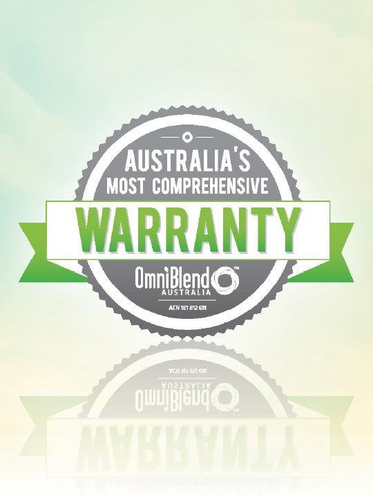 OmniBlend Australia's Most Comprehensive Warranty Image