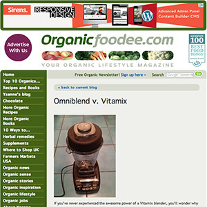 omniblend australia organicfoodie.com blender review