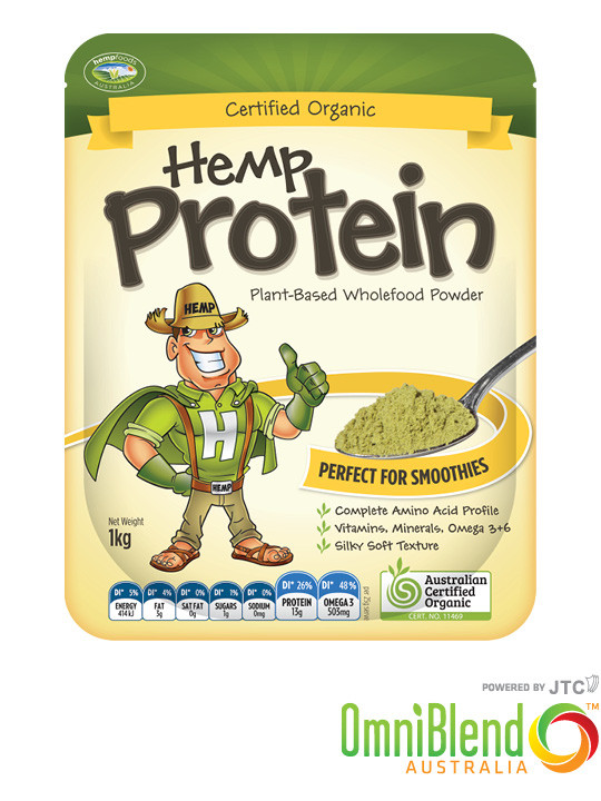 OmniBlend Australia Superfood Superstore Hemp Foods Australia Organic Hemp Protein 1kg