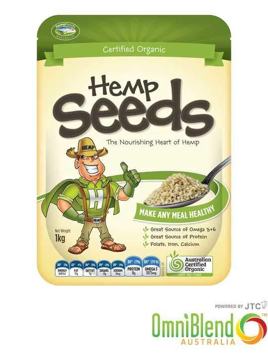 OmniBlend Australia Superfood Superstore Hemp Foods Australia Organic Hulled Hemp Seeds 1kg