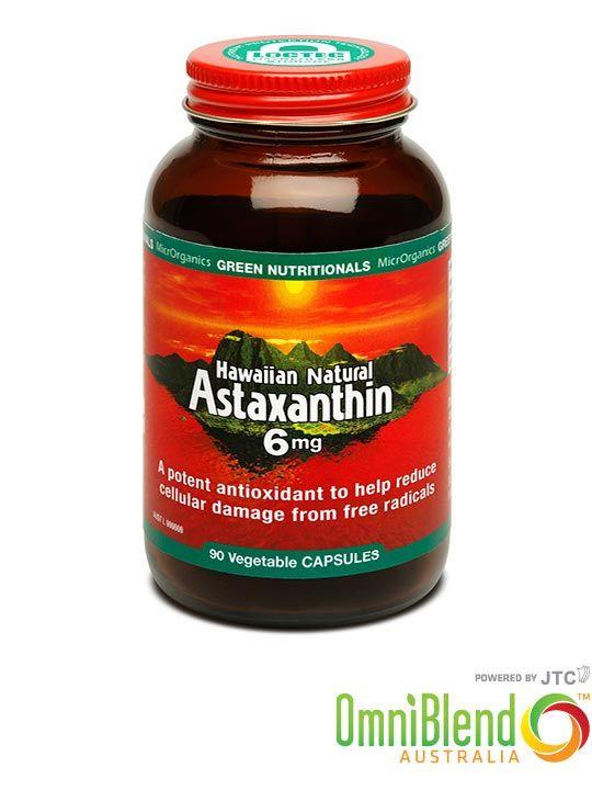 OmniBlend Australia Superfood Superstore MicrOrganics Green Nutritionals Hawaiian Natural Astaxanthin 6mg Capsules 90