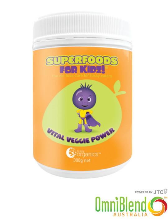 OmniBlend Australia Superfood Superstore Nutra Organics Superfoods For Kids Vital Veggie Power 300g