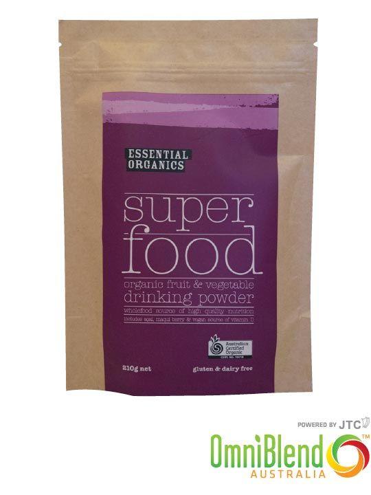 OmniBlend Australia Superfood Superstore Essential Organics Superfood 210g