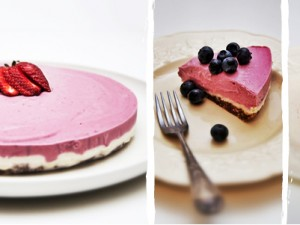 Raw Cashew & Raspberry Cheesecake