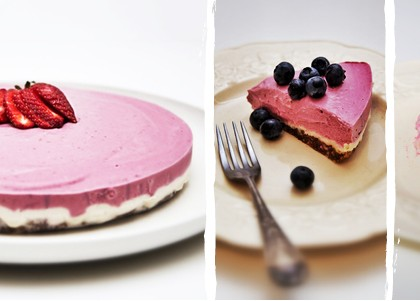 Raw Cashew & Raspberry Cheesecake
