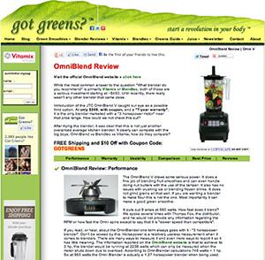 omniblend australia gotgreensrevolution.com blender review vitamix blendtec