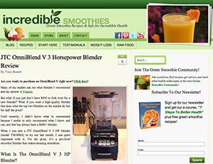 omniblend australia incrediblesmoothies.com blender review vitamix blendtec