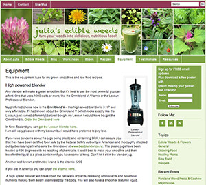 omniblend australia juliasedibleweeds.com blender review vitamix blendtec