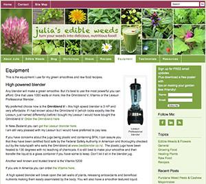 omniblend australia juliasedibleweeds.com blender review vitamix blendtec