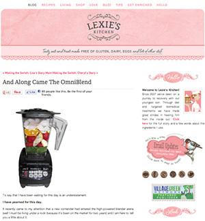 omniblend australia lexieskitchen.com blender review vitamix blendtec