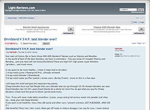 omniblend australia light-reviews.com blender review vitamix blendtec