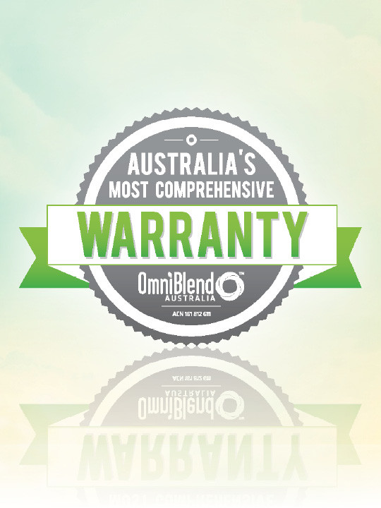 OmniBlend Australia's Most Comprehensive Warranty Image