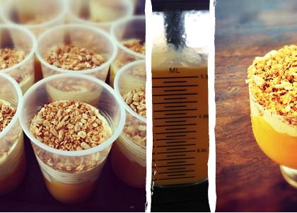 Mango, Vanilla Bean Cream & Granola Dessert