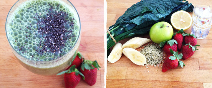 Hemp Seed Green Smoothie Blog Recipe
