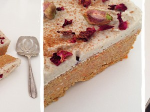 Raw Carrot Cake with Cashew Cream