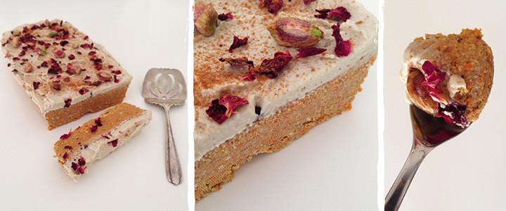 Raw Carrot Cake with Cashew Cream Blog Recipe