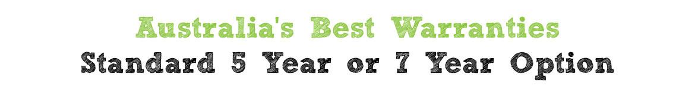 OmniBlend Australia's Best Warranty Standard 5 Year or 7 Year Option Slider Image