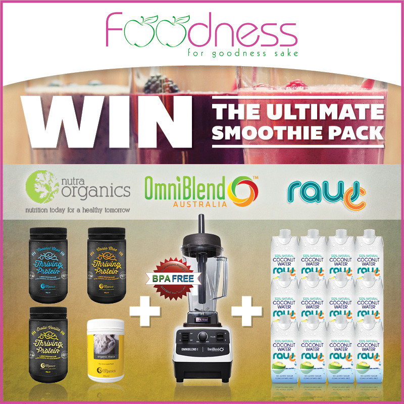 OmniBlend Australia Foodness for Goodness Sake Jenine Parkinson Raw C Coconut Water Nutra Organics Competition WIN Image