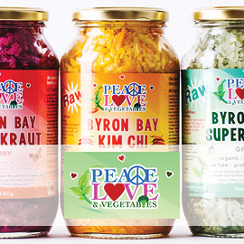 Peace Love and Vegetables www.peaceloveandvegetables.com.au Fermented Superkraut  Our Friends OmniBlend Australia Image