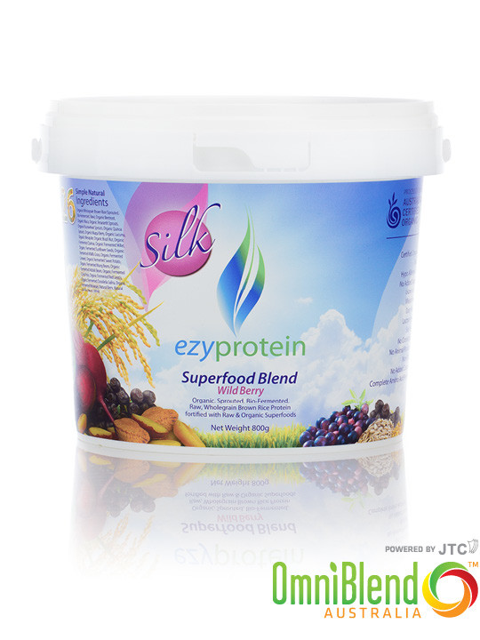 OmniBlend Australia Superfood Superstore EzyProtein Superfood Blend Wild Berry 800g