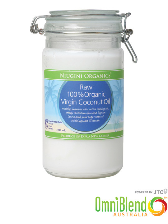 OmniBlend Australia Superfood Superstore Niugini Organics 100 Organic Raw Virgin Coconut Oil 1000ml