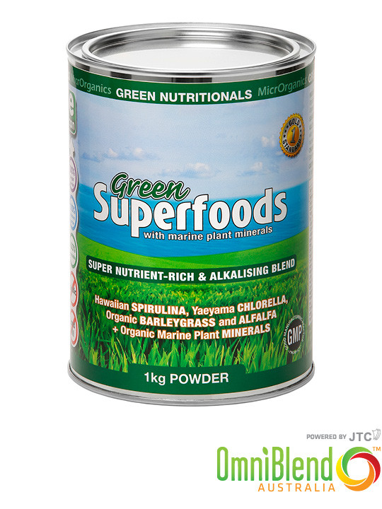 OmniBlend Australia Superfood Superstore MicrOrganics Green Nutritionals Supefoods Powder 1kg