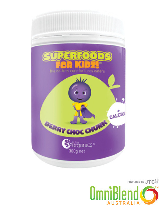 OmniBlend Australia Superfood Superstore Nutra Organics Supefoods For Kids Berry Choc Chunk 300g