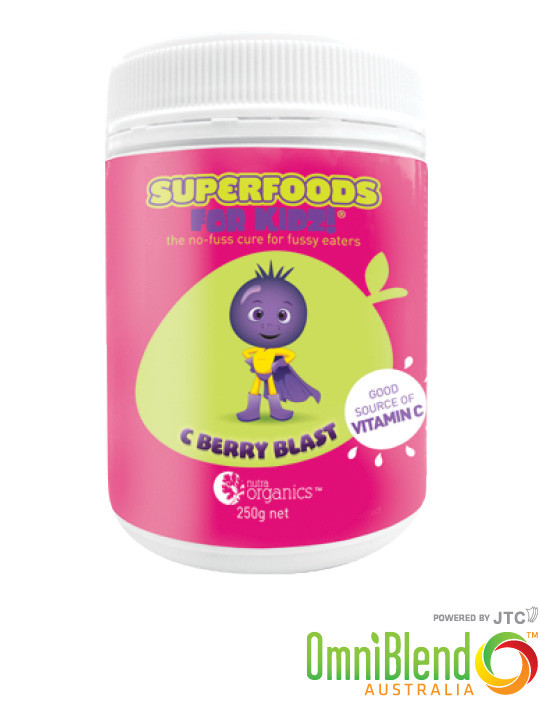 OmniBlend Australia Superfood Superstore Nutra Organics Superfoods For Kids C Berry Blast 250g