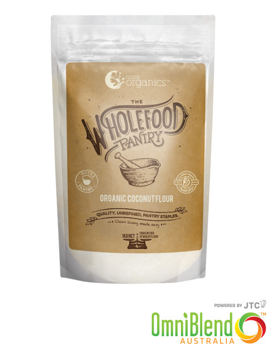 OmniBlend Australia Superfood Superstore Nutra Organics The Wholefood Pantry Organic Coconut Flour 1kg