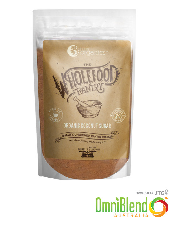 OmniBlend Australia Superfood Superstore Nutra Organics The Wholefood Pantry Organic Coconut Sugar 1kg