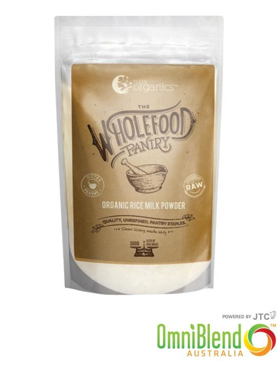 OmniBlend Australia Superfood Superstore Nutra Organics The Wholefood Pantry Organic Rice Milk Powder 300g