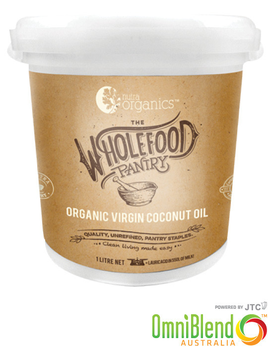 OmniBlend Australia Superfood Superstore Nutra Organics The Wholefood Pantry Organic Virgin Coconut Oil 1 Litre