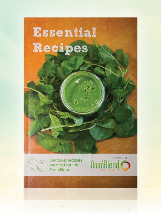 OmniBlend Australia's Essential Recipes hard copy blender recipe book