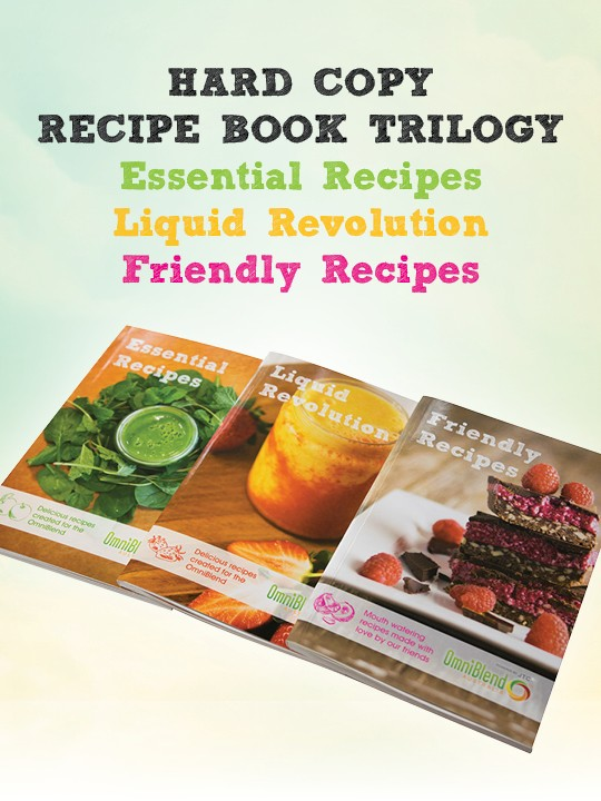 OmniBlend Australia's hard copy blender recipe book trilogy
