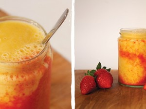 Mango Strawberry Swirl Smoothie