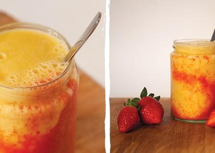 Mango Strawberry Swirl Smoothie
